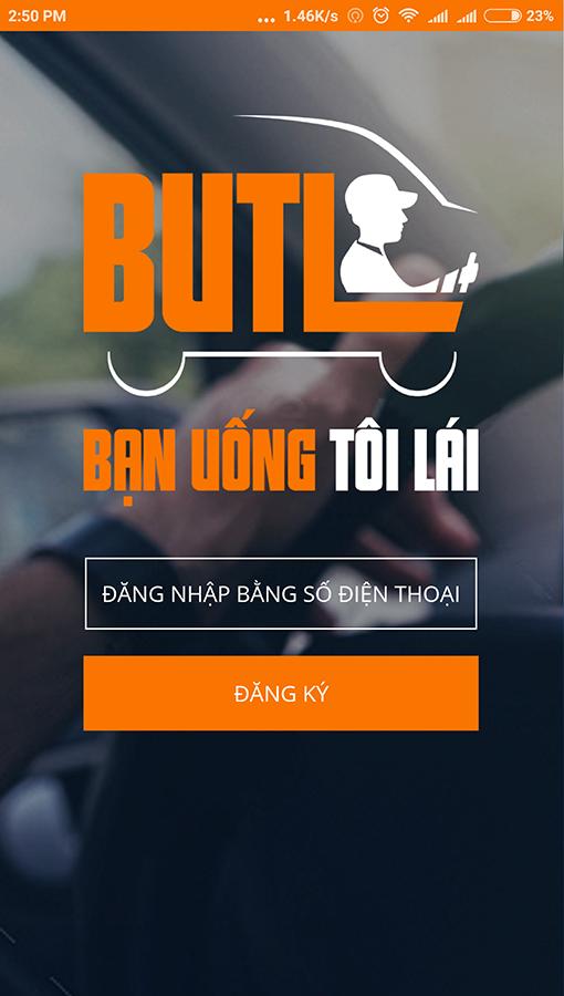 BUTL - Dịch vụ cho thuê tài xế qua ứng dụng điện thoại.