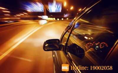Sử dụng đèn pha ban đêm   Nổ lốp bánh xe   BUTL Dịch Vụ Cho Thuê Tài Xế.